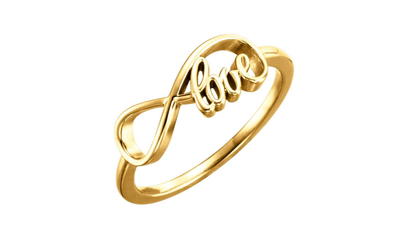 14K Yellow Love Infinity-Inspired Ring