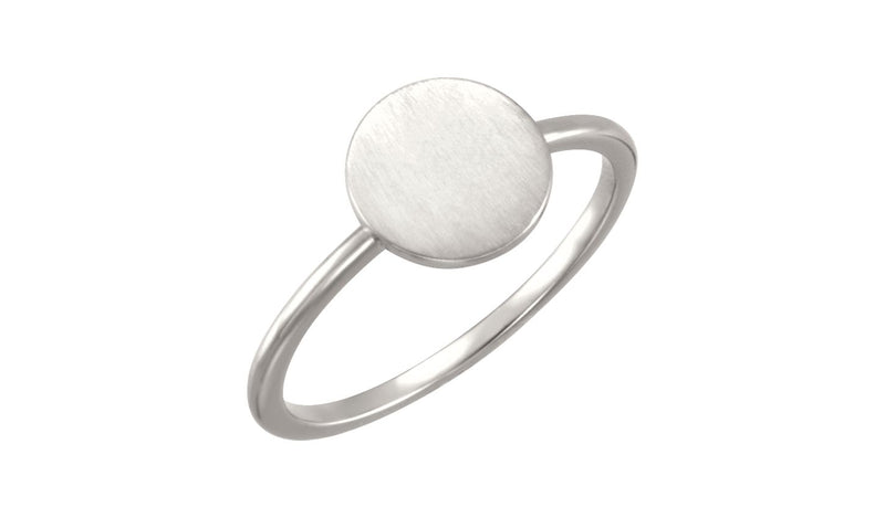 Continuum Sterling Silver Round Engravable Ring