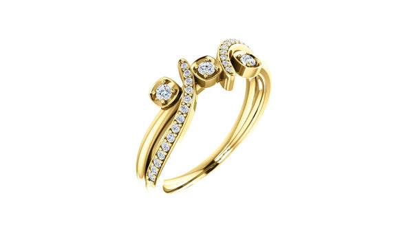14K Yellow 1/5 CTW Diamond Ring