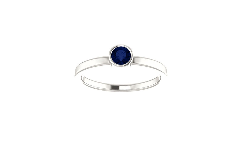 Sterling Silver Imitation Blue Sapphire Ring - THE LUSTRO HUT