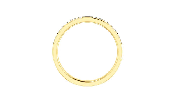 14K Yellow 1/2 CTW Diamond Channel-Set Anniversary Band - THE LUSTRO HUT