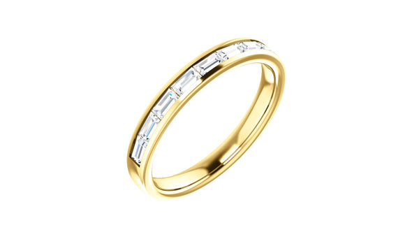 14K Yellow 1/2 CTW Diamond Channel-Set Anniversary Band