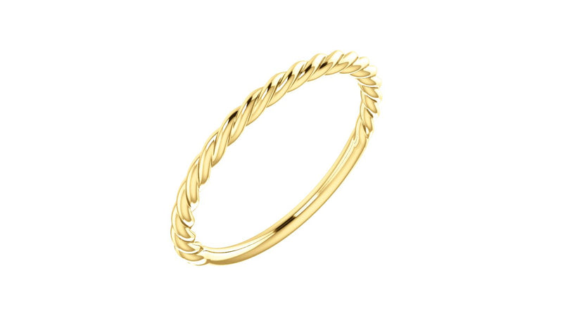 14K Yellow Rope Design Band - THE LUSTRO HUT