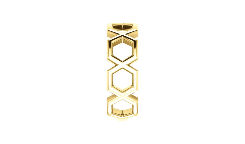 14K Yellow Geometric Ring - THE LUSTRO HUT