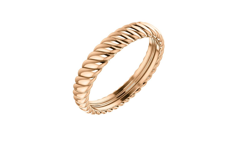 14K Rose 3.75 mm Thick Rope Band Size 7