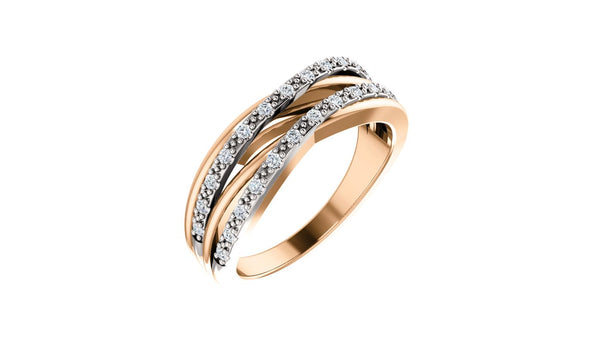 14K Rose & White 1/5 CTW Diamond Ring - THE LUSTRO HUT