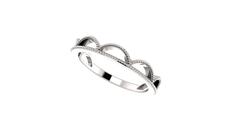 Platinum Stackable Ring