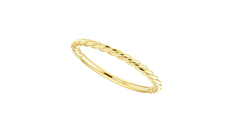 14K Yellow Rope Design Band