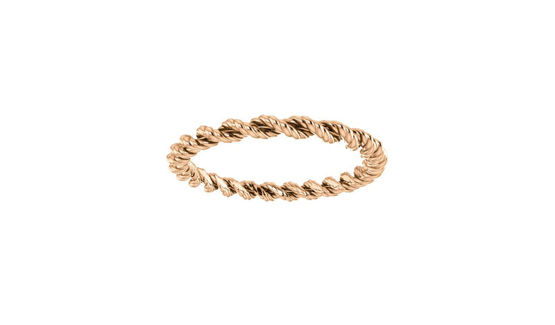 14K Rose Band Size 7