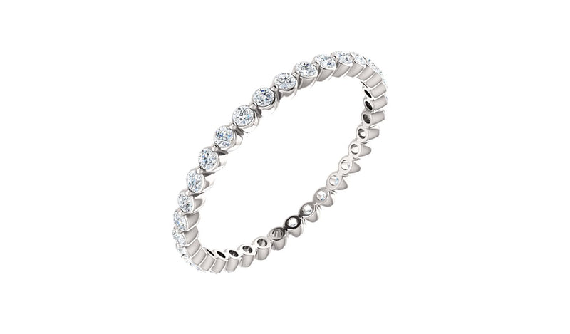 Platinum 1/2 CTW Diamond Eternity Band Size 7