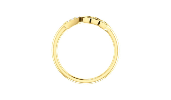 14K Yellow .04 CTW Diamond Arrow Ring - THE LUSTRO HUT