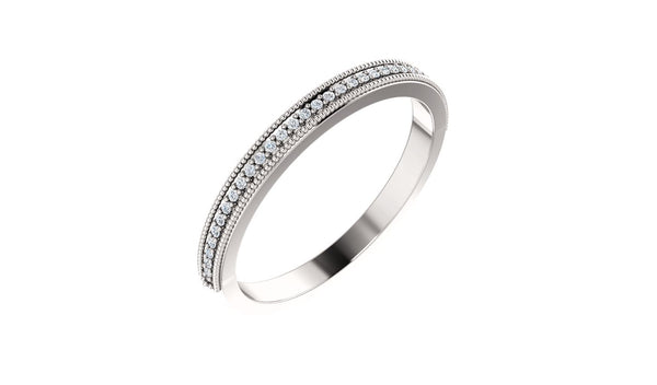 .08 CTW Diamond Milgrain Anniversary Band - THE LUSTRO HUT