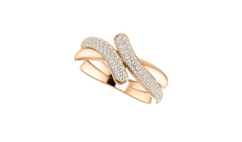 14K Rose 1/2 CTW Diamond Ring