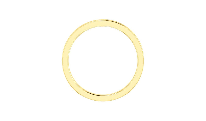 14K Yellow Stackable Bead Ring Size 6