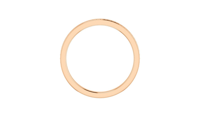 14K Rose Stackable Bead Ring Size 7 - THE LUSTRO HUT