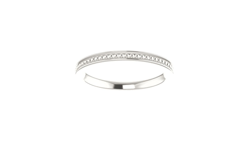 Sterling Silver Stackable Bead Ring Size 6