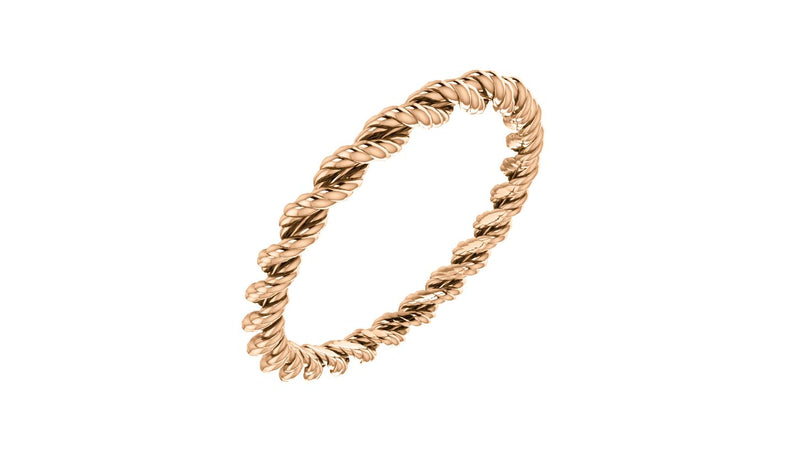 14K Rose Band Size 7 - THE LUSTRO HUT