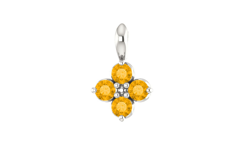 Sterling Silver Youth Imitation Citrine Pendant