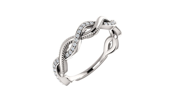 14K White 1/8 CTW Diamond Anniversary Band - THE LUSTRO HUT