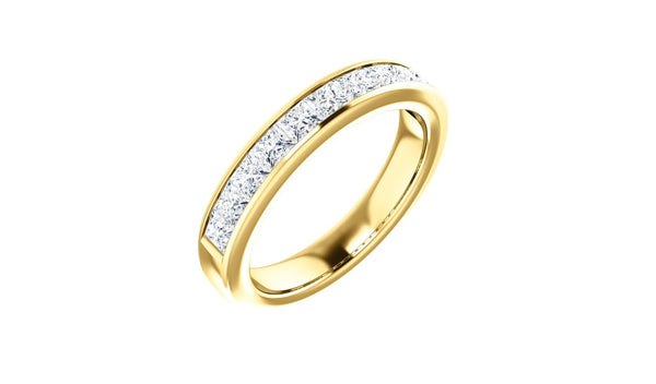 14K Yellow 1 CTW Diamond Anniversary Band