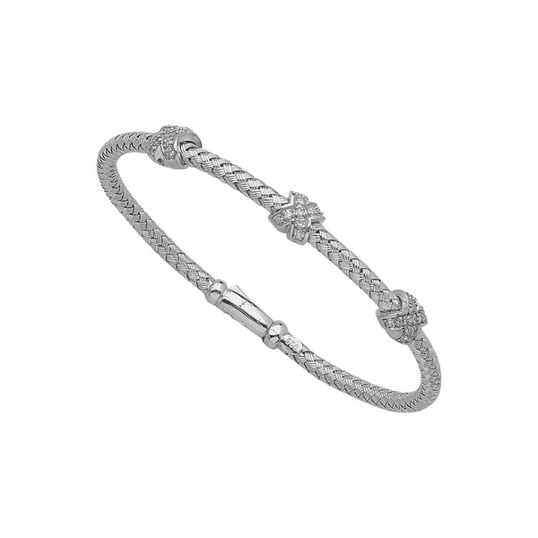 FANCY MESH BANGLE W/DIAMONDS