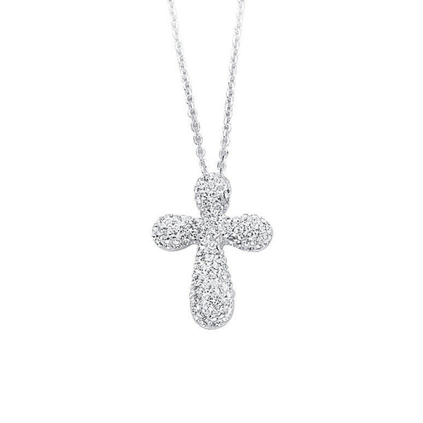SS CROSS PENDANT NECK / WHITE RESIN