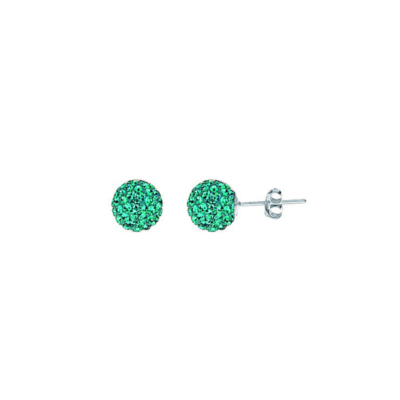SS DECEMBER CRYSTAL BIRTHSTONE 8MM STUD