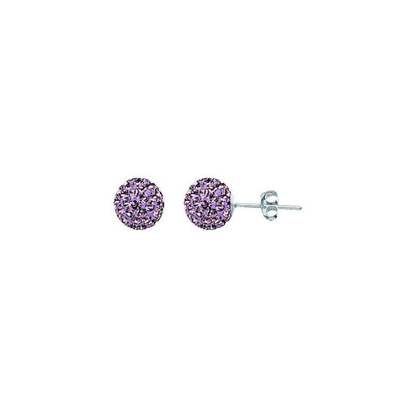 SS JUNE CRYSTAL BIRTHSTONE 8MM STUD