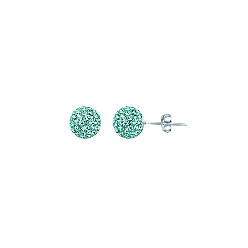 SS MARCH CRYSTAL BIRTHSTONE 8MM STUD