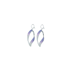 OPEN SWIRL CRYSTAL EAR/TANZANITE/CLEAR