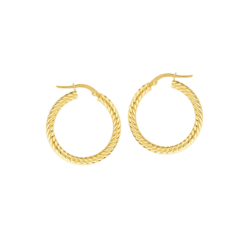 3*25MM ROPE TWIST HOOP EARRINGS