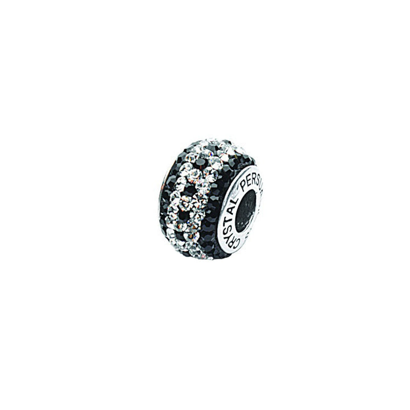 BLACK/ WHITE CYRSTAL DOTTED BEAD