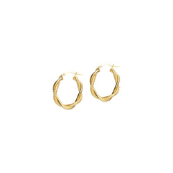 14Y FANCY TWIST HOOP EARRING