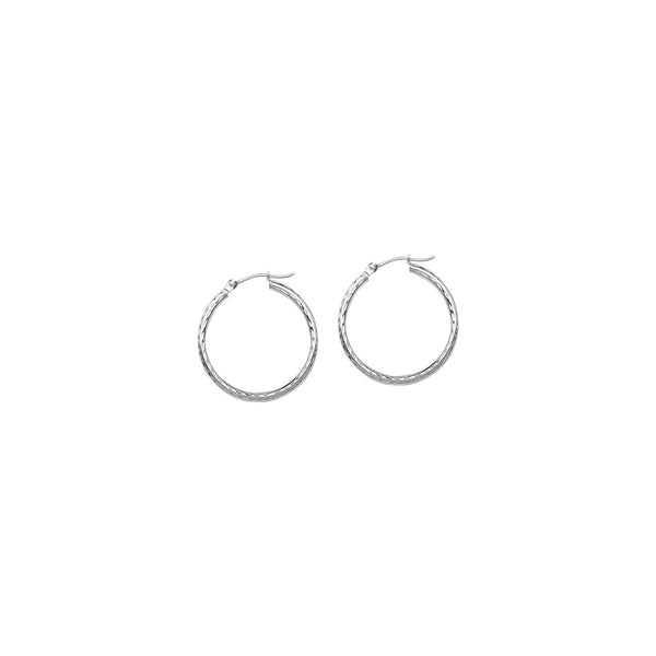2X20MM ROUND TUBE - FDC, SHINY, FULL DIAMOND CUT, FULL RHODIUM