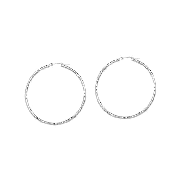 2X30MM ROUND TUBE - FDC, SHINY, FULL DIAMOND CUT, FULL RHODIUM
