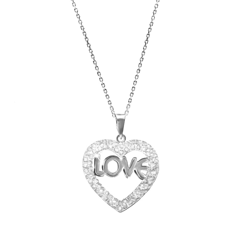 LOVE CRYSTAL/SS HEART PENDANT