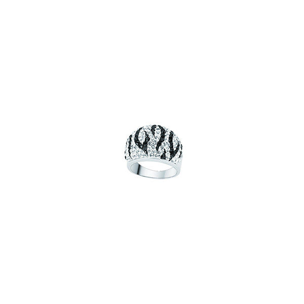 ZEBRA CRYSTAL PATTERN RING