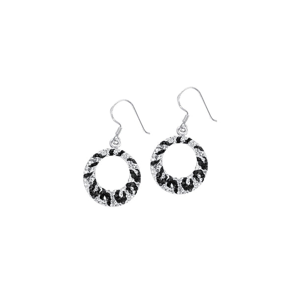 ZEBRA CRYSTAL ROUND DROP EARRING