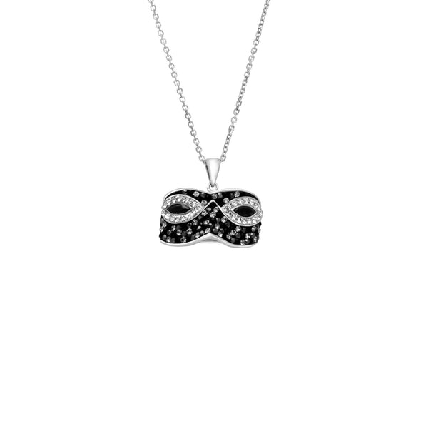 SS WHITE/BLACK MASK PENDANT