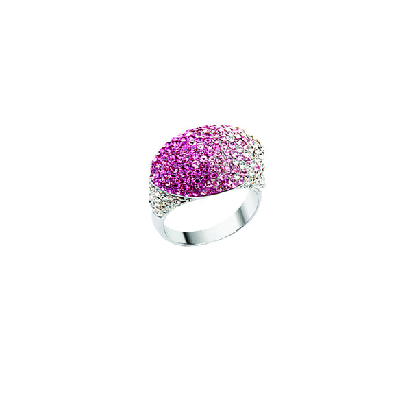 SS PINK/WHITE GRAD DOME RING