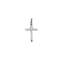 SS RH PLATED WOOD PATTN CRUCIFIX PENDANT