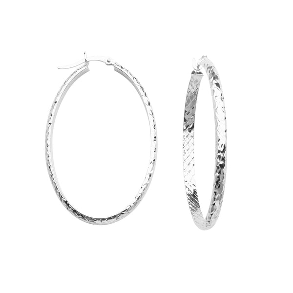 3MM 28 X 42MM FULL X D/C OVAL HOOP EAR
