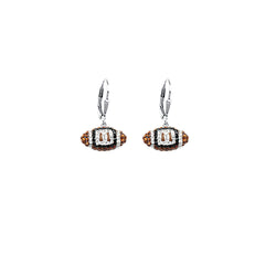 SS 8MM FOOTBALL LEVERBACK EARRINGS