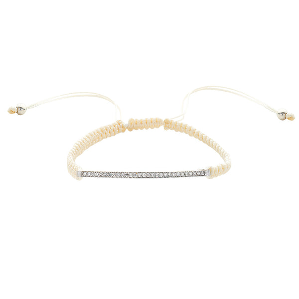 CREME MACRAME WHT-RH BAR & END BALLS