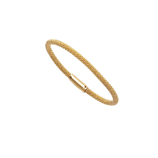 SS BEAD YLW BANGLE