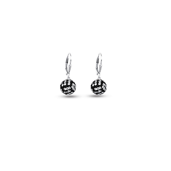 SS 8MM VOLLEYBALL LEVERBACK EARRINGS
