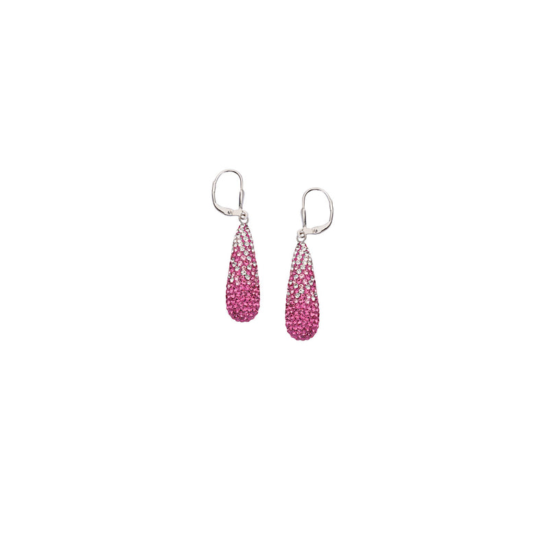LARGE TEAR DROP EAR/CLR TO PINK