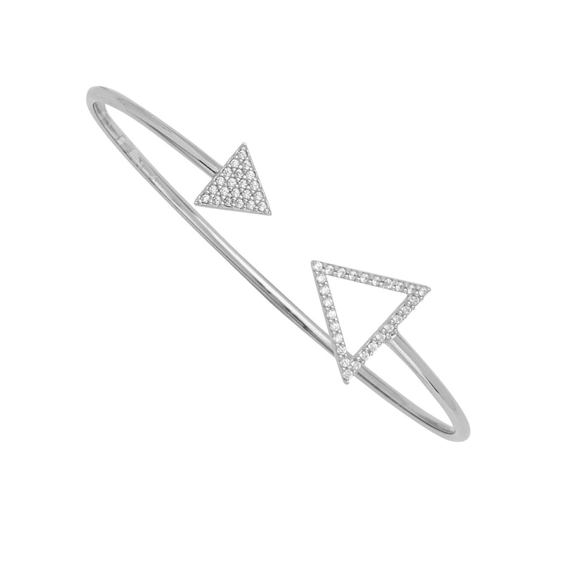 SMALL AND LARGE TRIANGLE CZ ELEMENT CUFF
