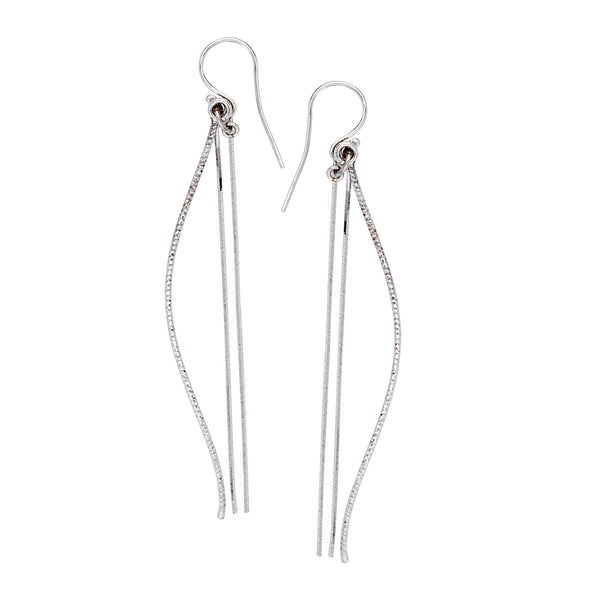 DANGLE D/C TUBE AND SNAKE CHAIN EARRINGS