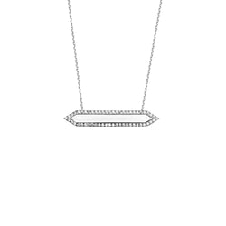 FANCY CZ BAR NECKLACE